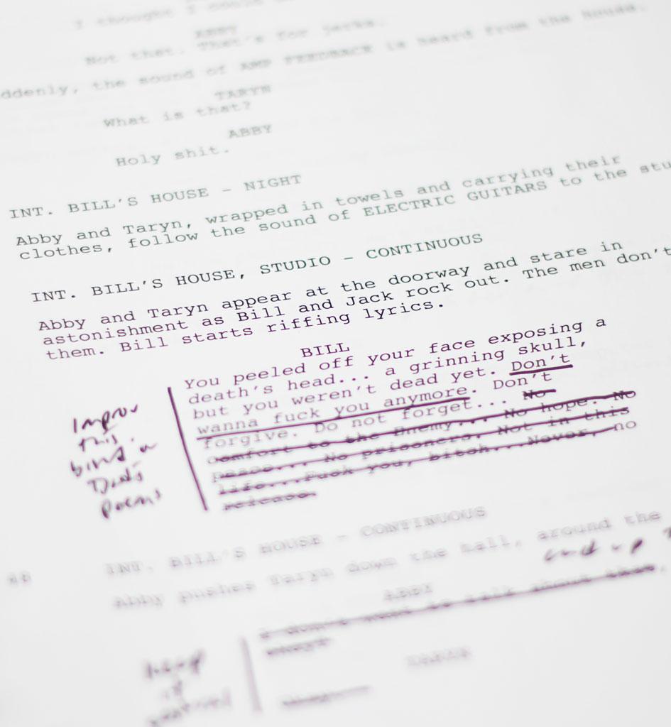 Excerpt from Script